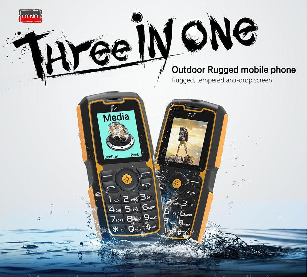 NO.1 A11 Quad Band Unlocked Phone IP67 Waterproof Power Bank Function FM Flashlight