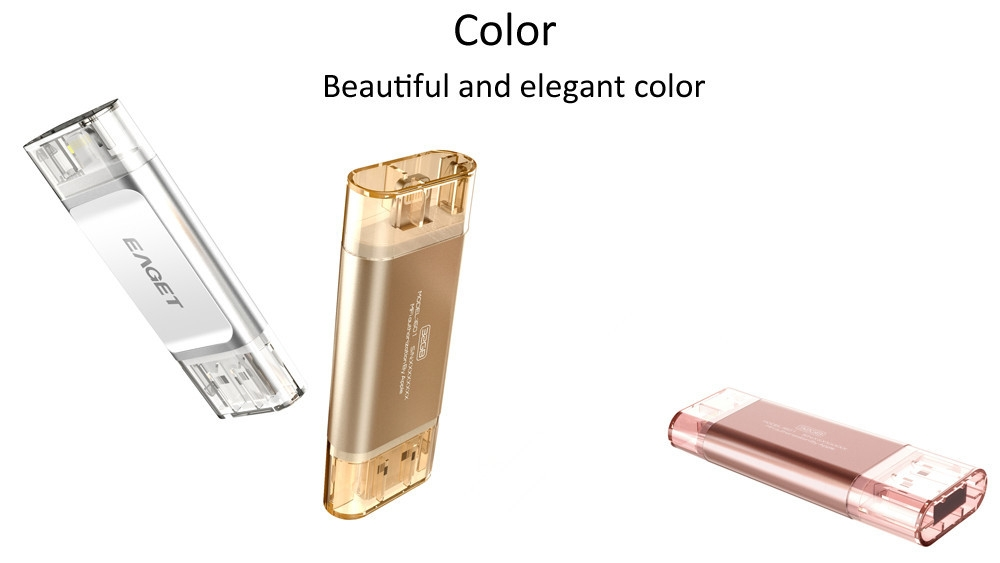 EAGET I60  64GBUSB 3.0 OTG Flash Drive with Connector