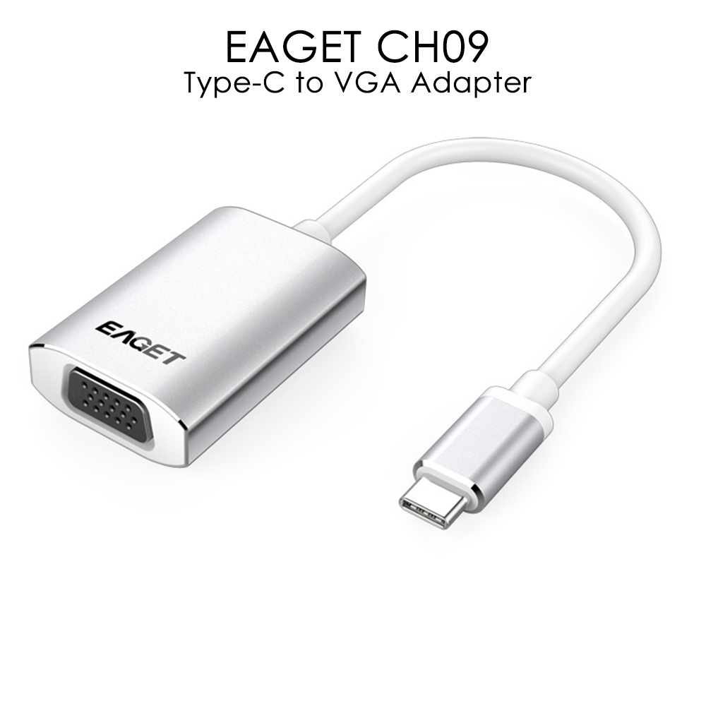EAGET CH09 Type-C to VGA Adapter HD Video Converter Support 1080P