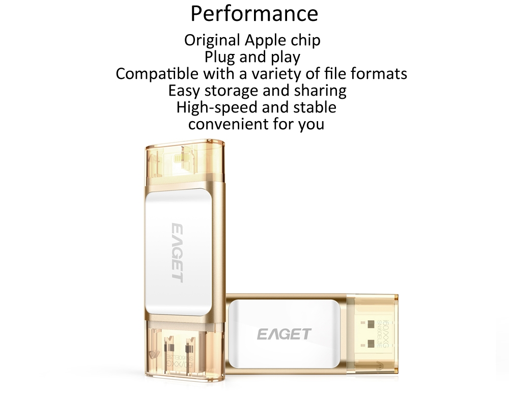 EAGET I60 32GB USB 3.0 OTG Flash Drive with Connector