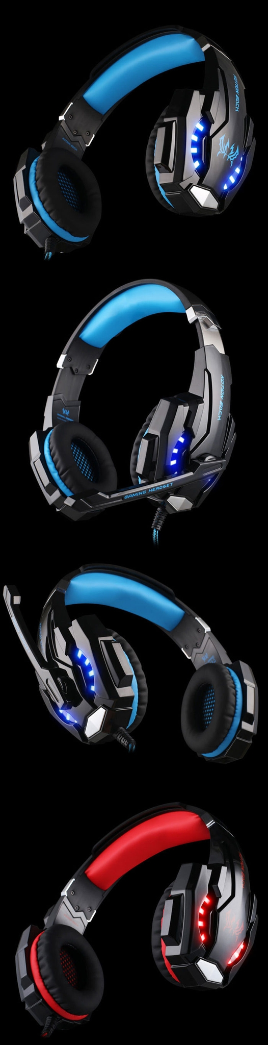 KOTION EACH G9000 Gaming Headphone 3.5mm Game Headset Headband for PS4 with Mic LED Light