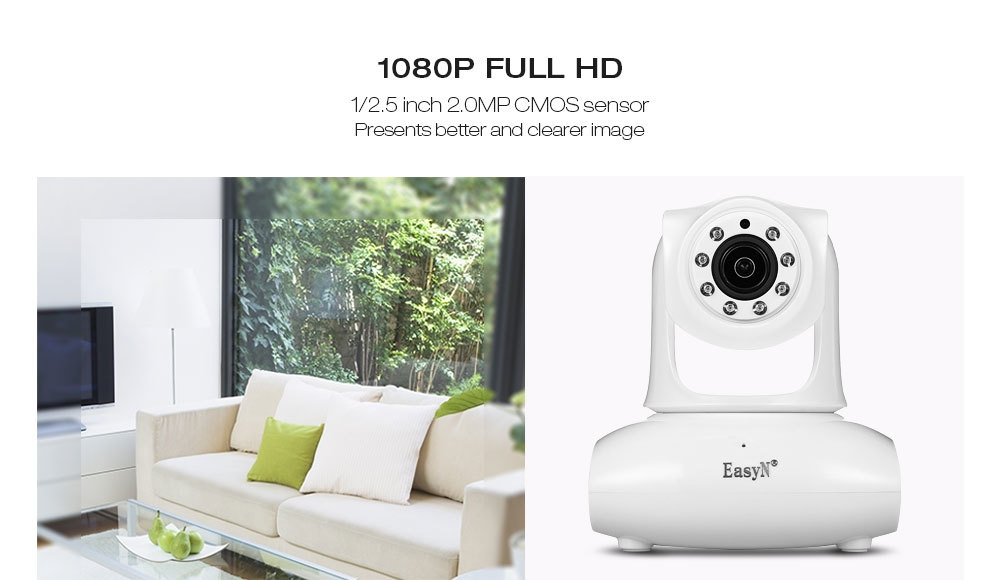 EasyN 147 1080P H.264 WiFi IP Camera Wireless Indoor Security Cam IR Night Vision / Motion Detection / P2P
