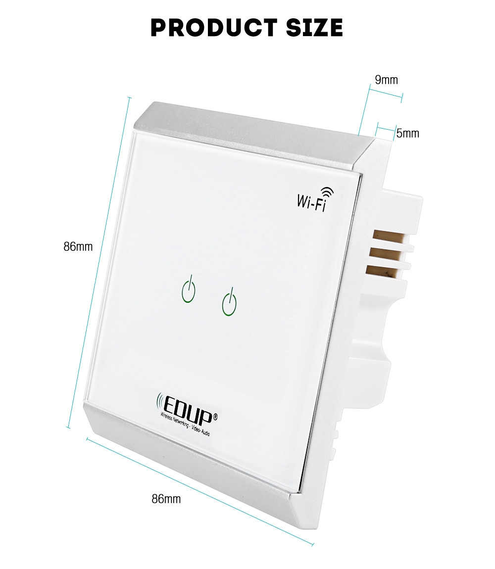 Buy EDUP EP - 3713 WiFi Power Switch With Touch Panel Smart Home ...