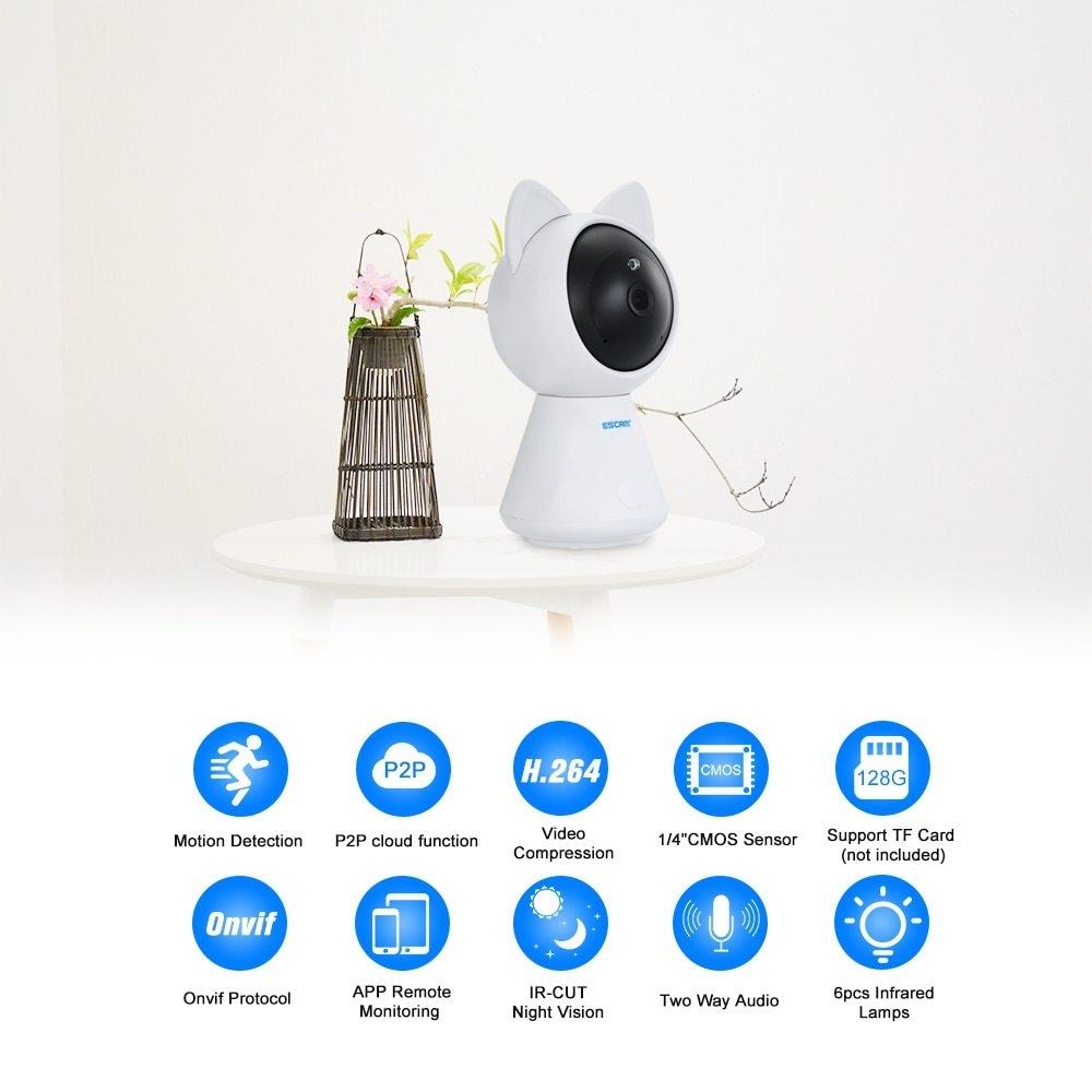 Escam ESCAM 1080P IP Cloud Camera IR Lamps CCTV Surveillance