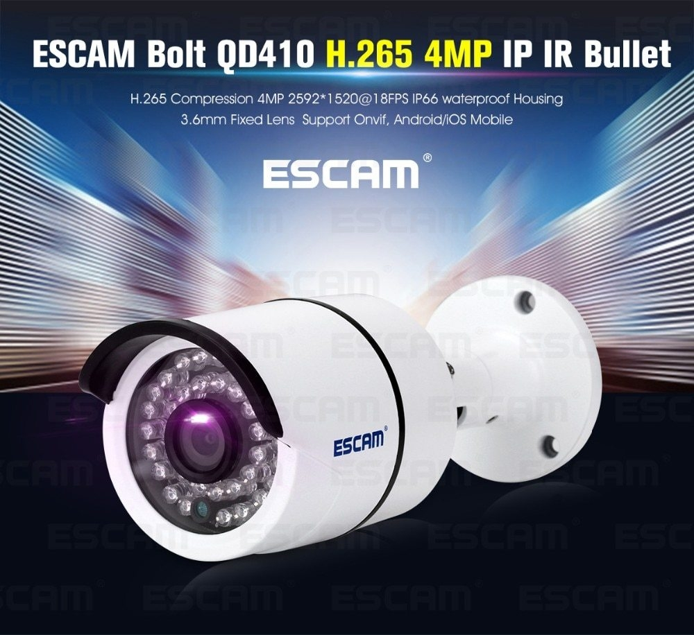 Escam Escam QD410 Bolt IP Camera H 265 4MP 1520P Onvif P2P