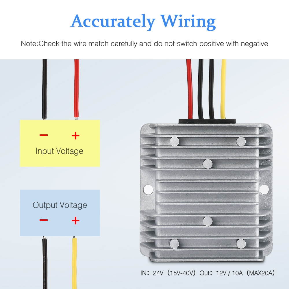 Buy Excelvan Car Voltage Converter Widely Compatible Waterproof Wiring Diagram Image
