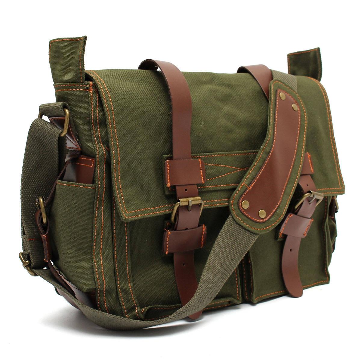 974e7573f7b4 Vintage Canvas Shoulder Messenger Bag