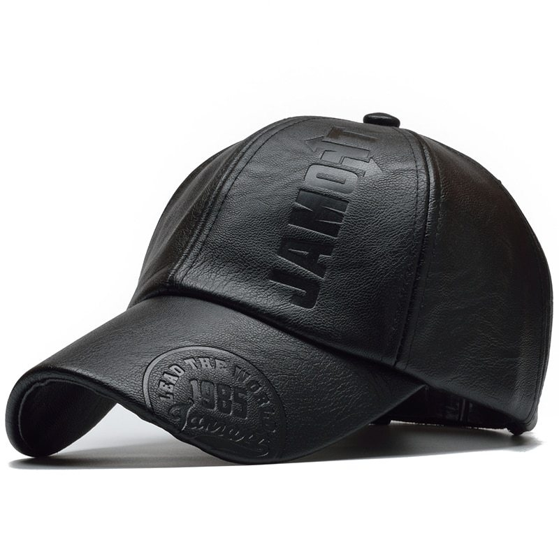 a8630a42354e Fashion [NORTHWOOD] 2018 High Quality Winter Cap PU Leather Baseball ...