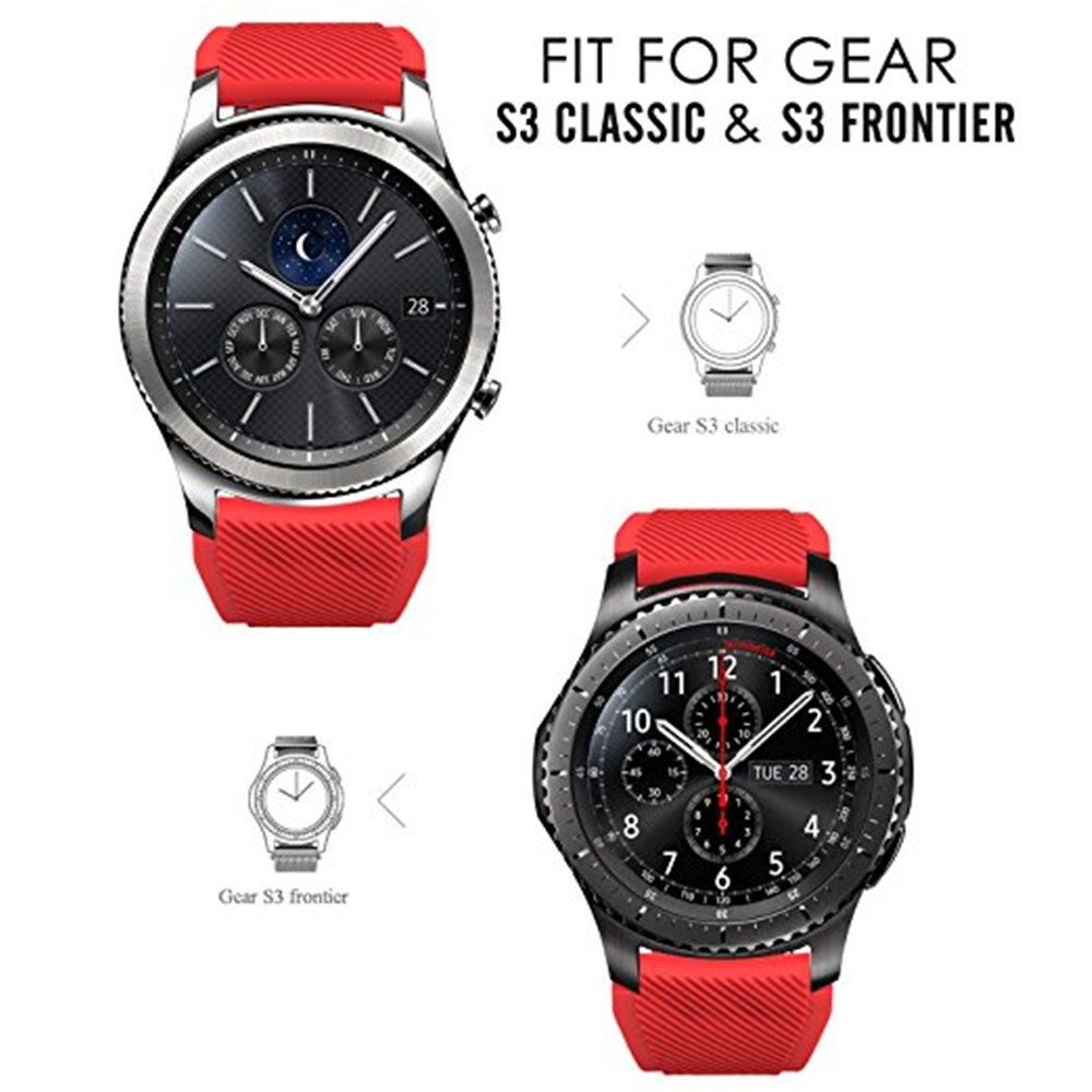 Soft Silicone Replacement Sport Strap for Samsung Gear S3 Frontier / Classic