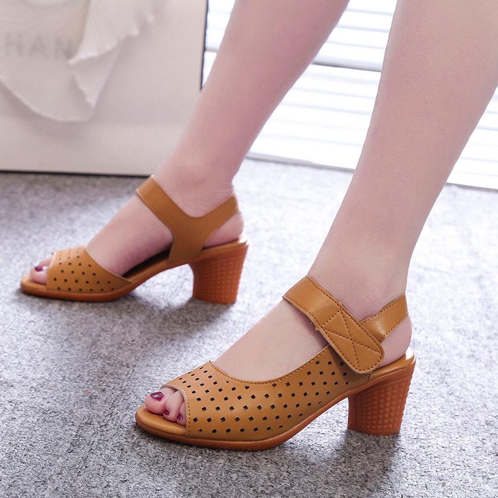 8a404ec08de Fashion wenrenmok STORE Casual Shoes Summer With Women's Thick Heel ...