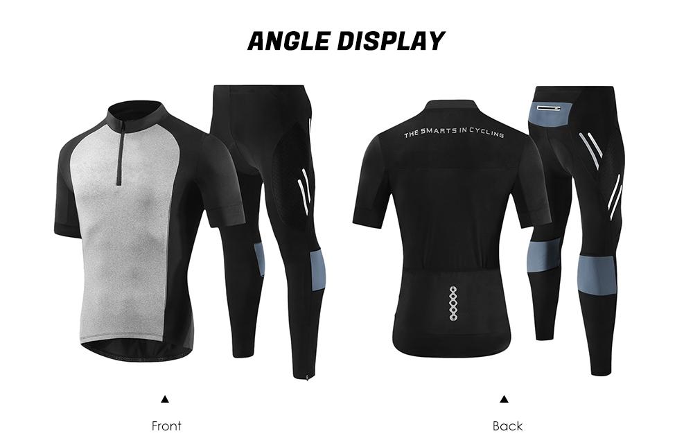 ... Bicycle Jersey Short Sleeve Sports Shirt Padded Bike Pants Men Cycling  Set ... b9bcd1e95