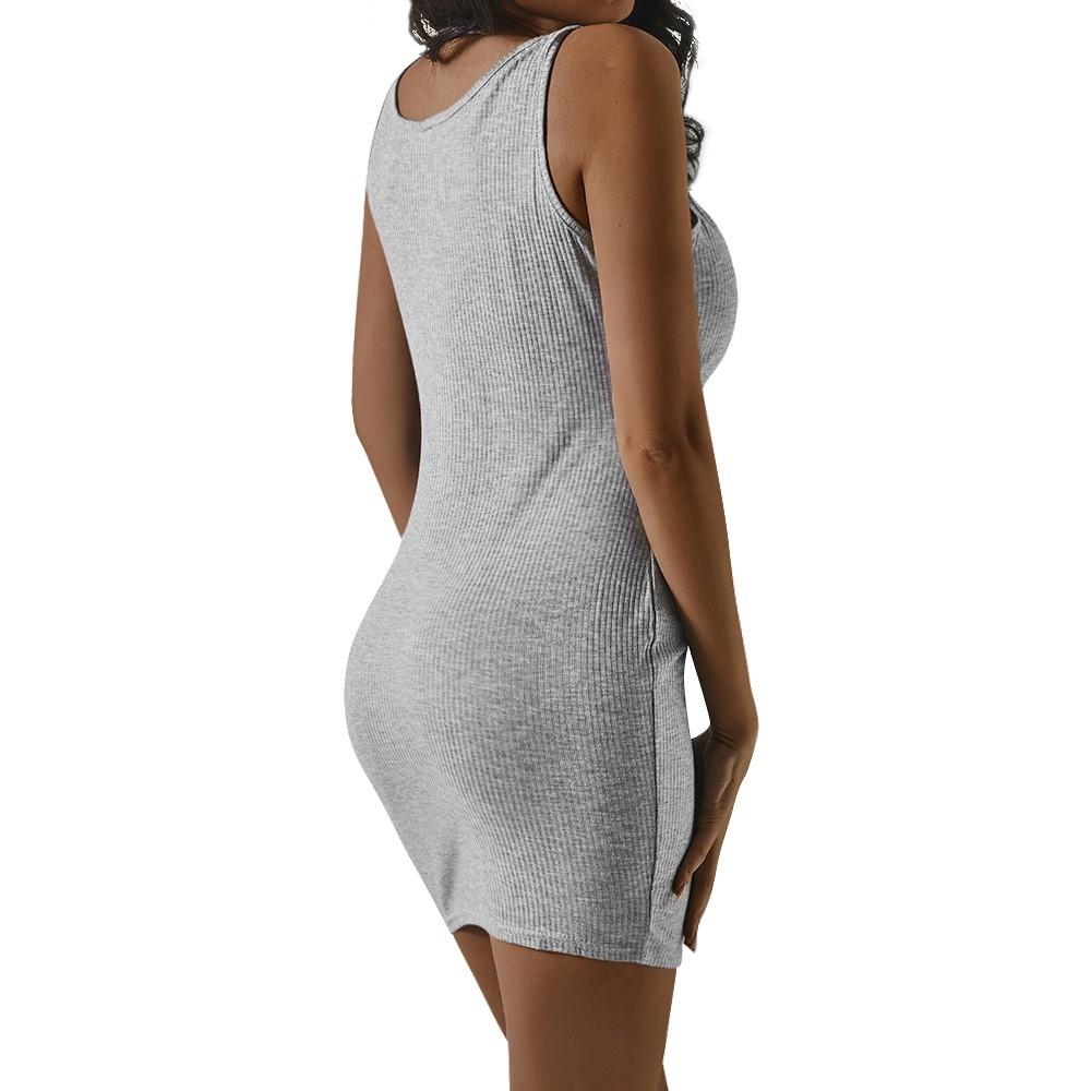 50bfa3b6dbc22a Fashion Hiaojbk Store Seay Women Summer O Neck Zipper Mini Dresses ...