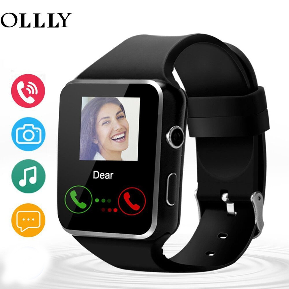 X6 Bluetooth Smart Watch 16GB Support Micro SIM Card Camera Video for Android S