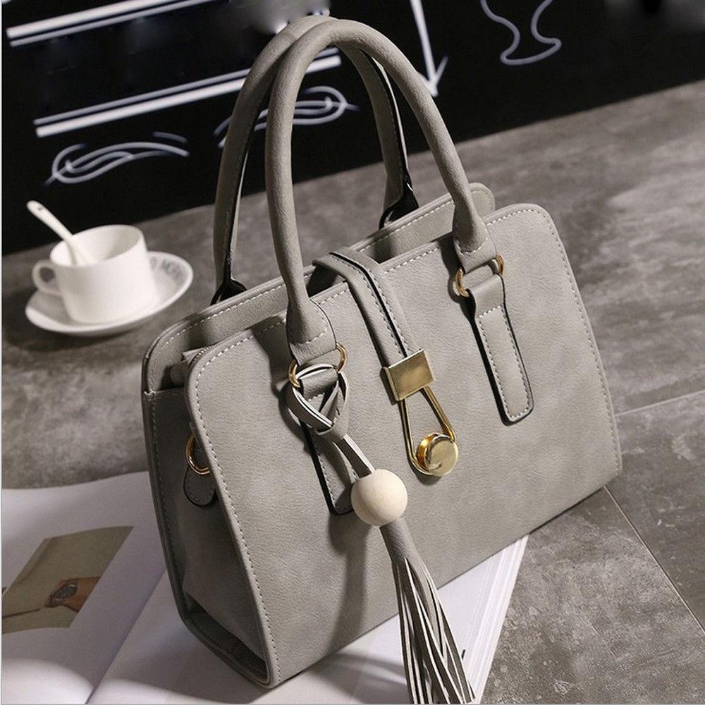 Fashion jiuhap store Fashion Women Handbags Shoulder Bags Tote Bag Female  Retro Messenger Bag GY-Gray 2753170c8b768