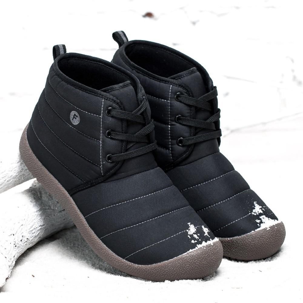 24c857d147 Fashion Men s Waterproof Booties Cotton Shoes Scrub Short Cotton Boots  Winter Snow Boots