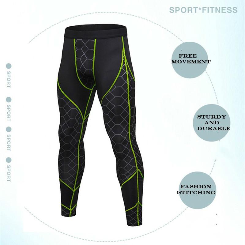 677881cc0c Fashion 2018 Brand Fashion Compression Tights Fitness Pants Men's Sports  Pants Bodybuilding Sportswear Leggings Men's Jogging Pants Trousers - Grey -Red