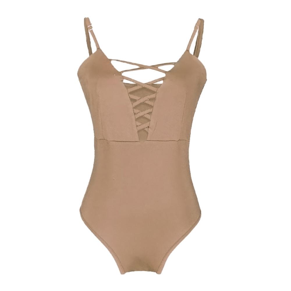 355419aeef Fashion Xingbiaocao Women s Swimwear One Piece Swimsuit Push Up Bikini Bathing  Suit M - Khaki