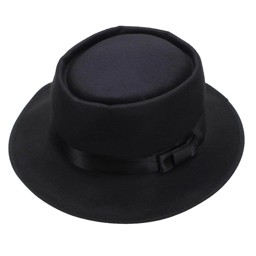 ffdaaf2da Fashion Men Women Wool Felt Round Fedora Cap Crushable Porkpie ...