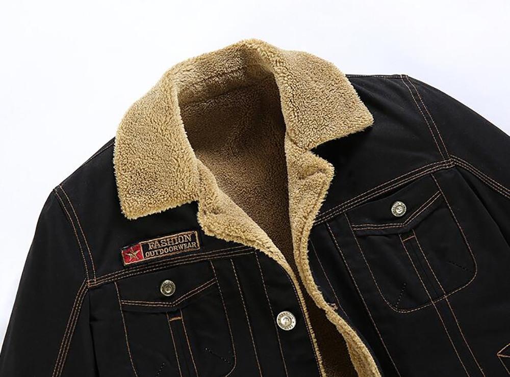 174c4c2fadc Plus Size Men s Vintage Button Front Slim Fit Corduroy Fleece Jacket