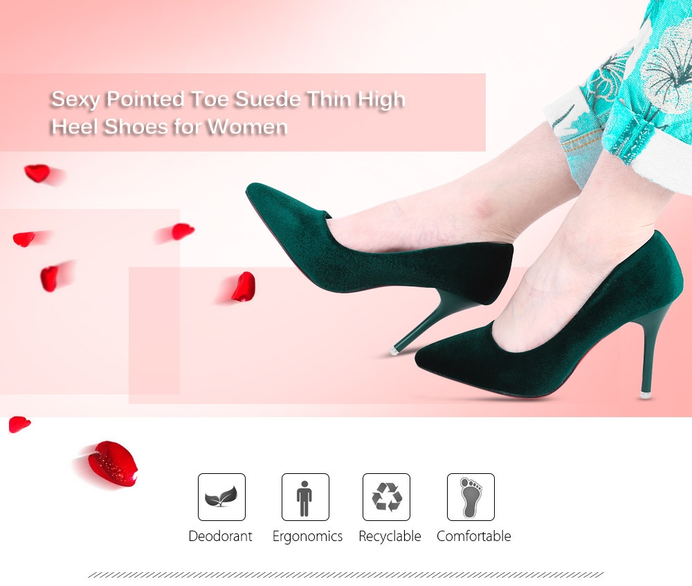 Sexy Pointed Toe Suede Thin High Heel Shoes for Women