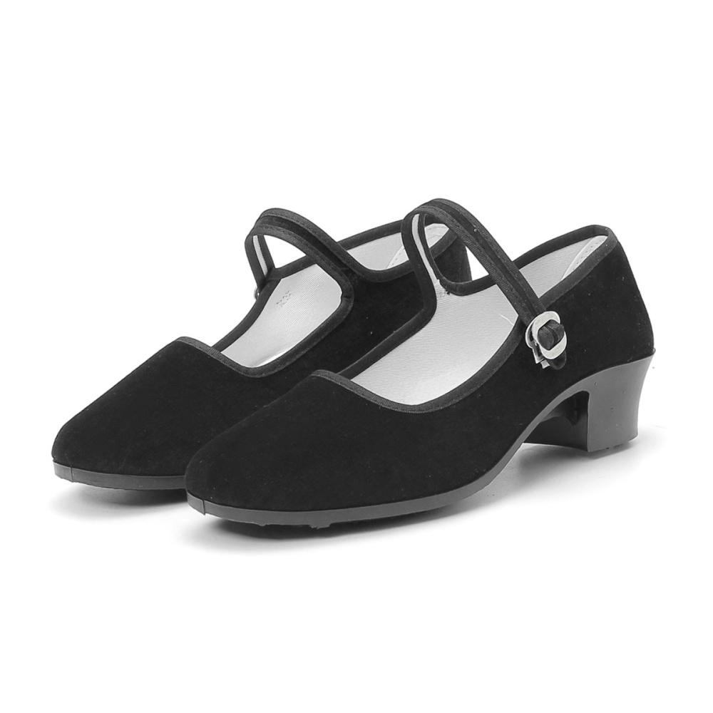 e68650674fe5f2 Fashion New Womens Ladies Black Mid Block Heel Mary Jane Office Work Formal  Strap Shoes BLACK-EU