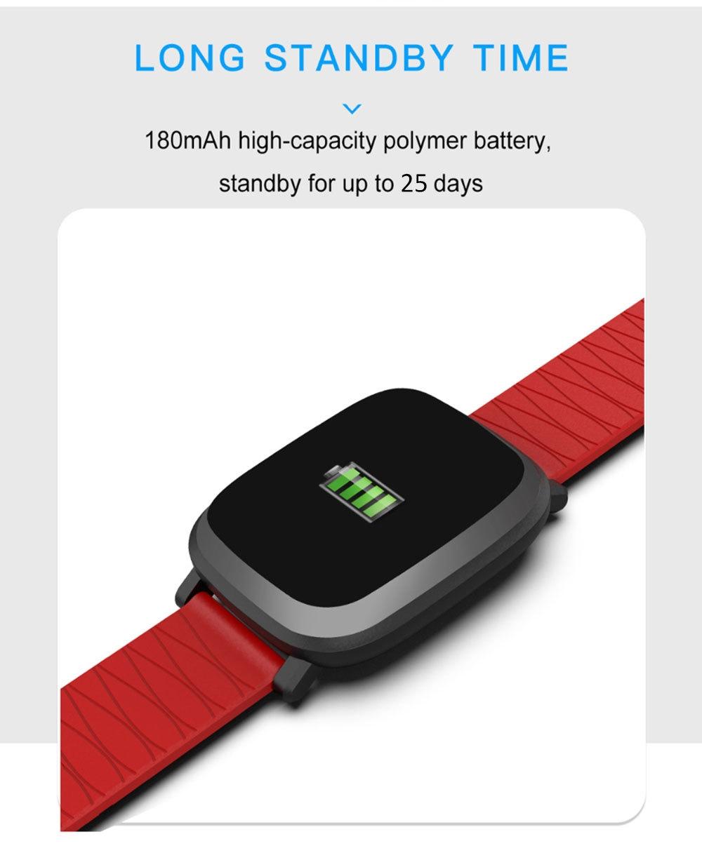 M30 1.3 inch Smart Bracelet Sleep HR Blood Oxygen Pressure Monitor IP67 Waterproof Message Alarm Smartwatch