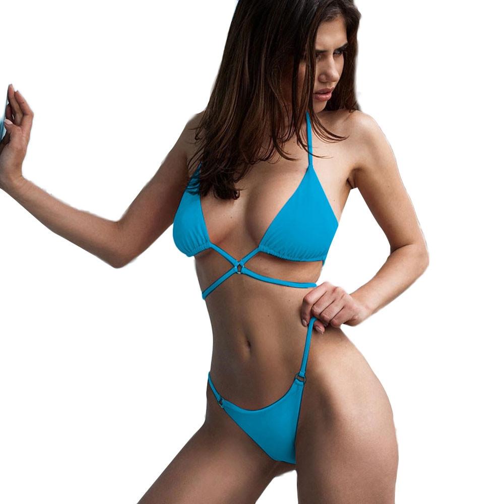 ecbeb9063039c Fashion xingbiaocao women weave push up padded bra beach bikini set  swimsuit swimwear blue jpg 1000x1000