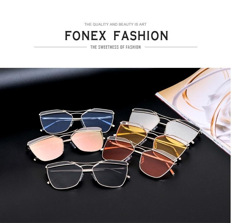 90775e868c Generic Fonex 2016 New Fashion Vintage Sunglasses Women Brand ...