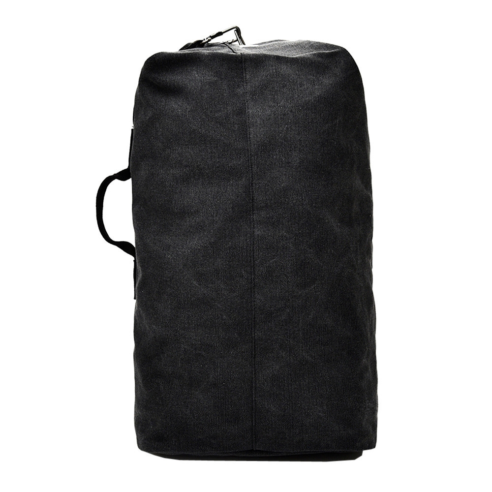 64824e394c Fashion Africanmall store Vintage Neutral Outdoor Travel Canvas Backpack  High Capacity Satchel Hiking Bag -Black