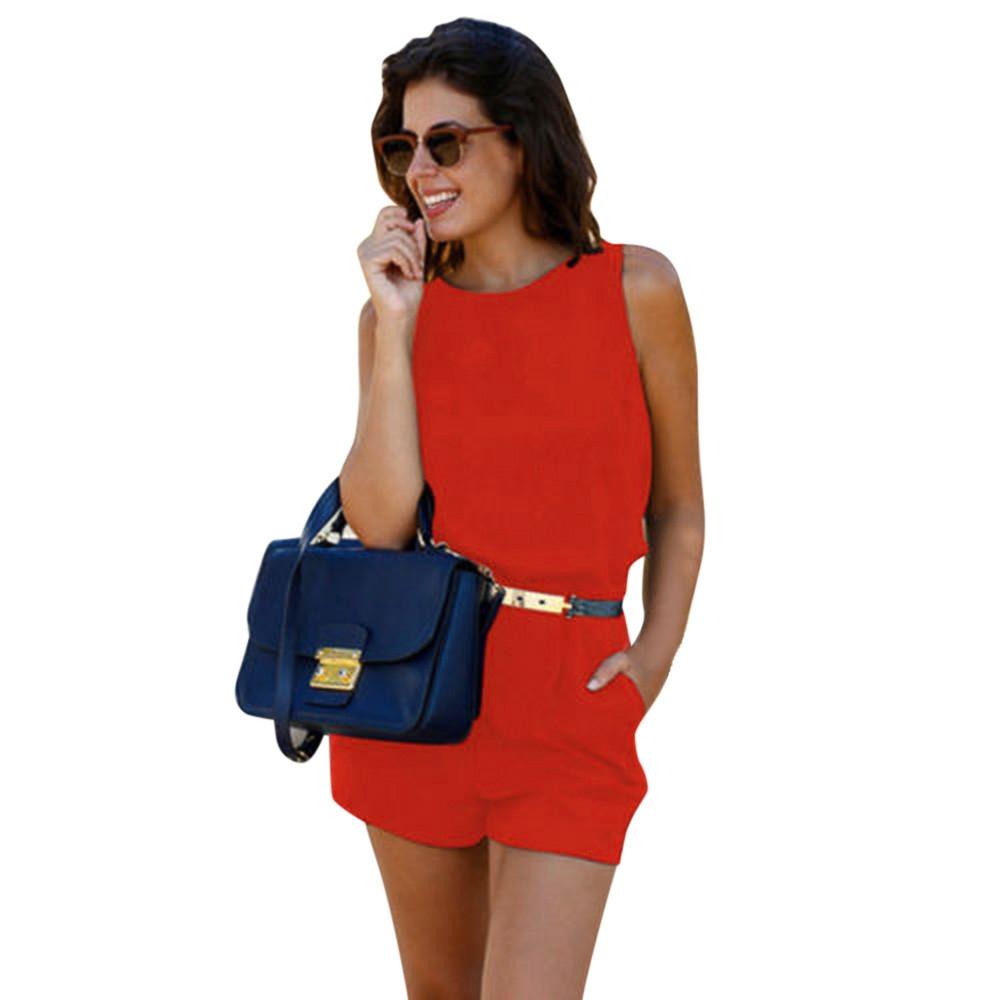 c200089fd5 Fashion Hiaojbk Store Womens Holiday Mini Playsuit Ladies Jumpsuit ...