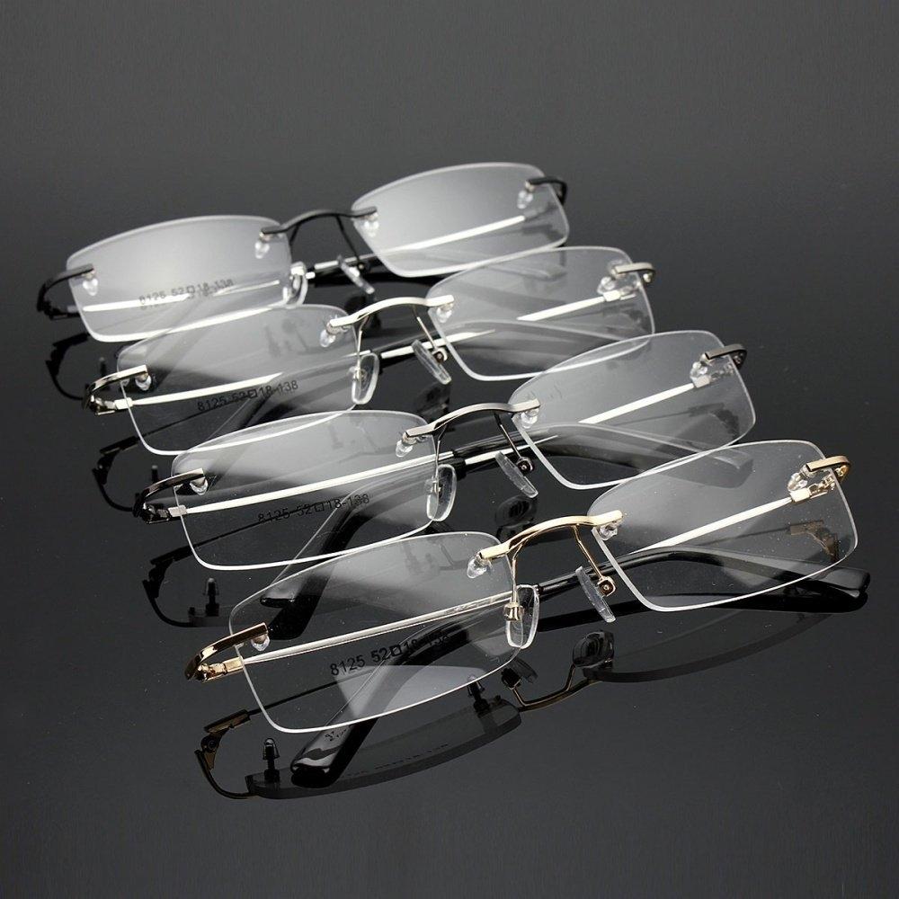 98f2086490 Fashion Rimless Glasses Lightest Rx Optical Eyeglasses Memory ...
