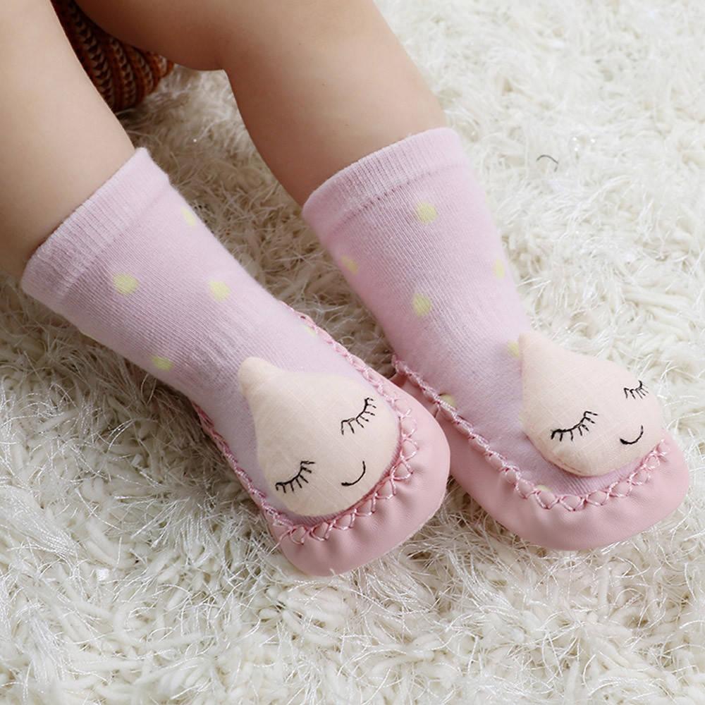 c2b07bd4d88 Fashion braveayong infant baby girls boys comfortable cute cartoon socks  anti slip slipper socks pink jpg