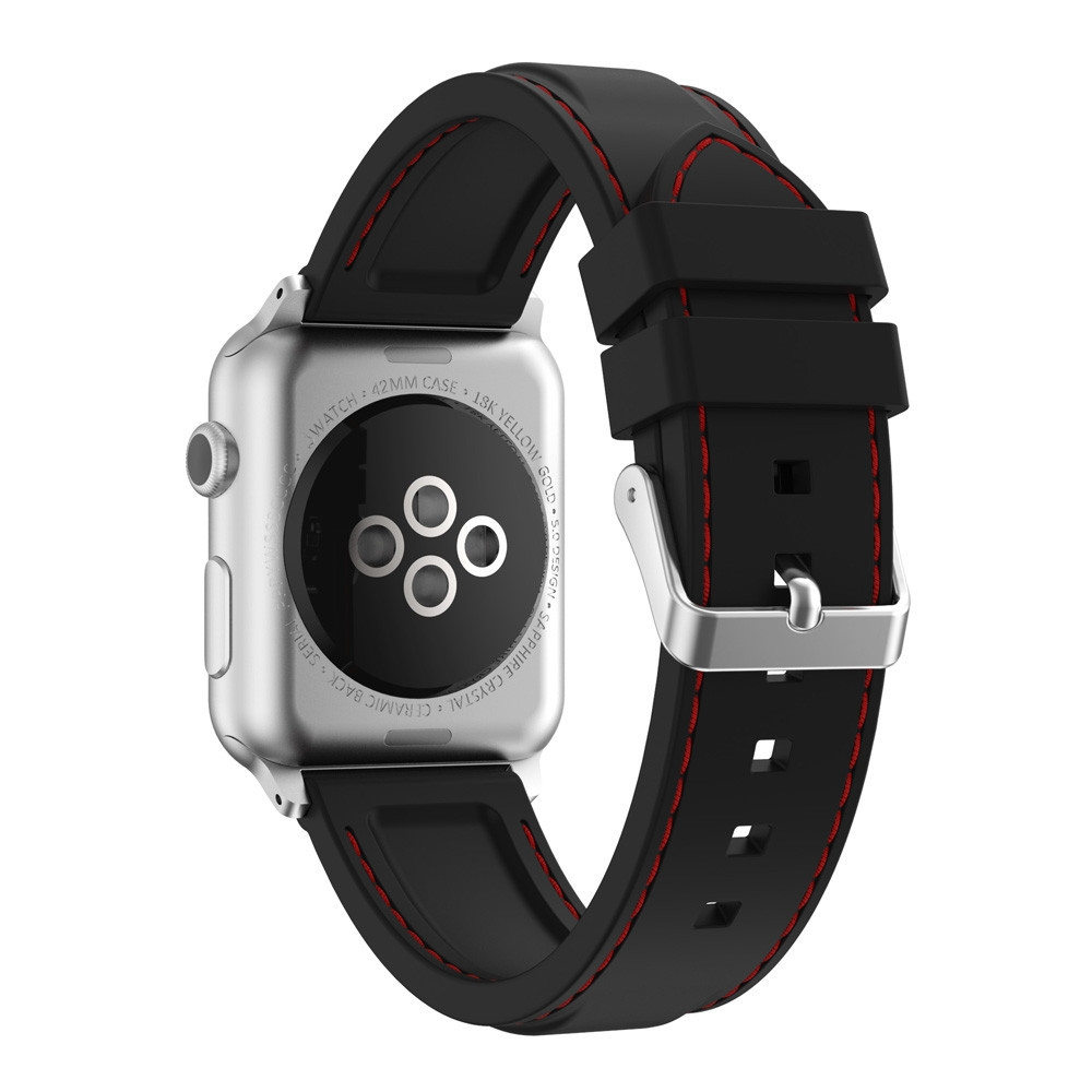 Buy Fashion Guoaivo New Sports Silicone Bracelet Strap Band Apple Watch Series 2 38mm Black 1xbands For 1