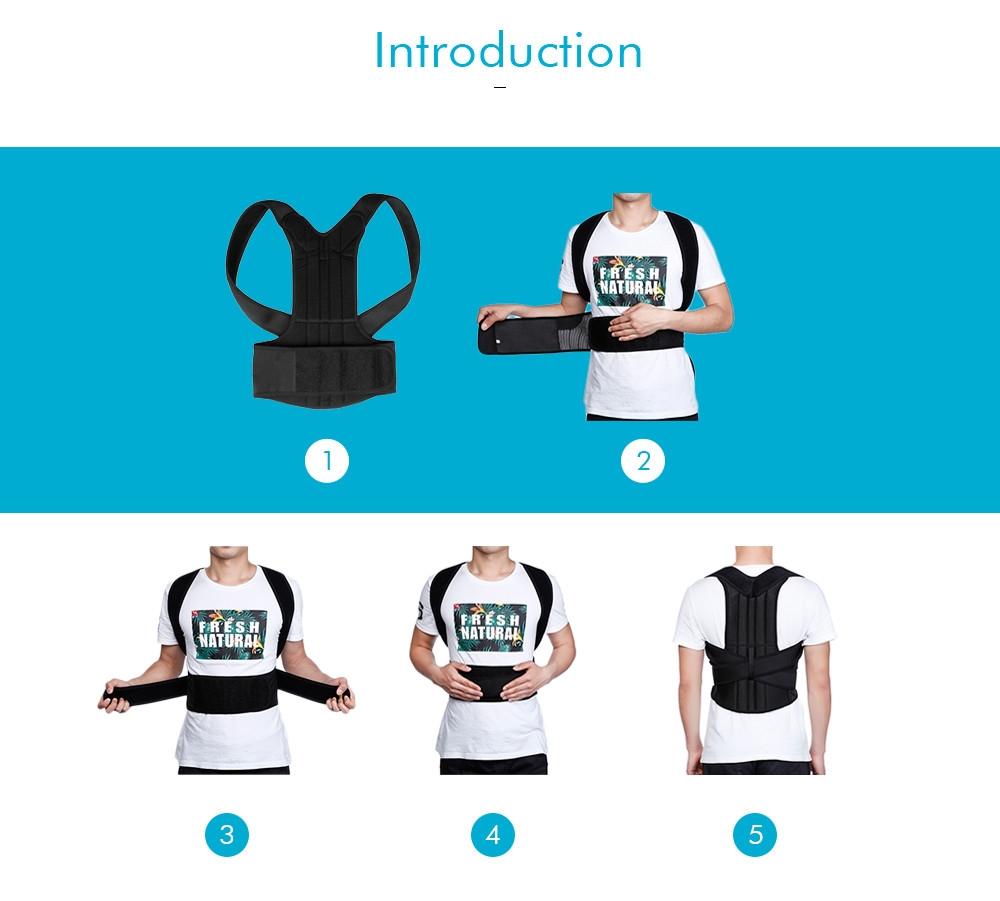 Adjustable Adult Corset Posture Corrector Back Shoulder Brace Spine Support Belt