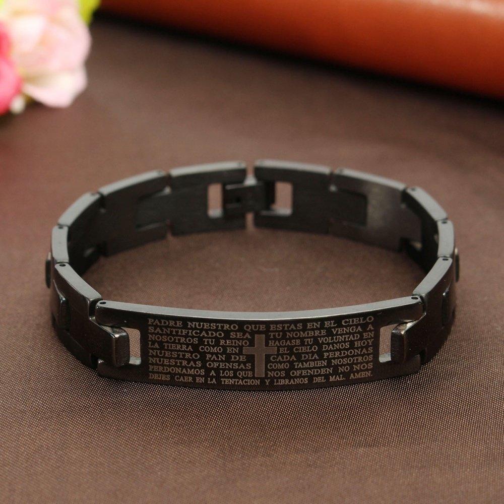 Fashion Men Black Golf Titanium Stainless Steel Ion Magnetic