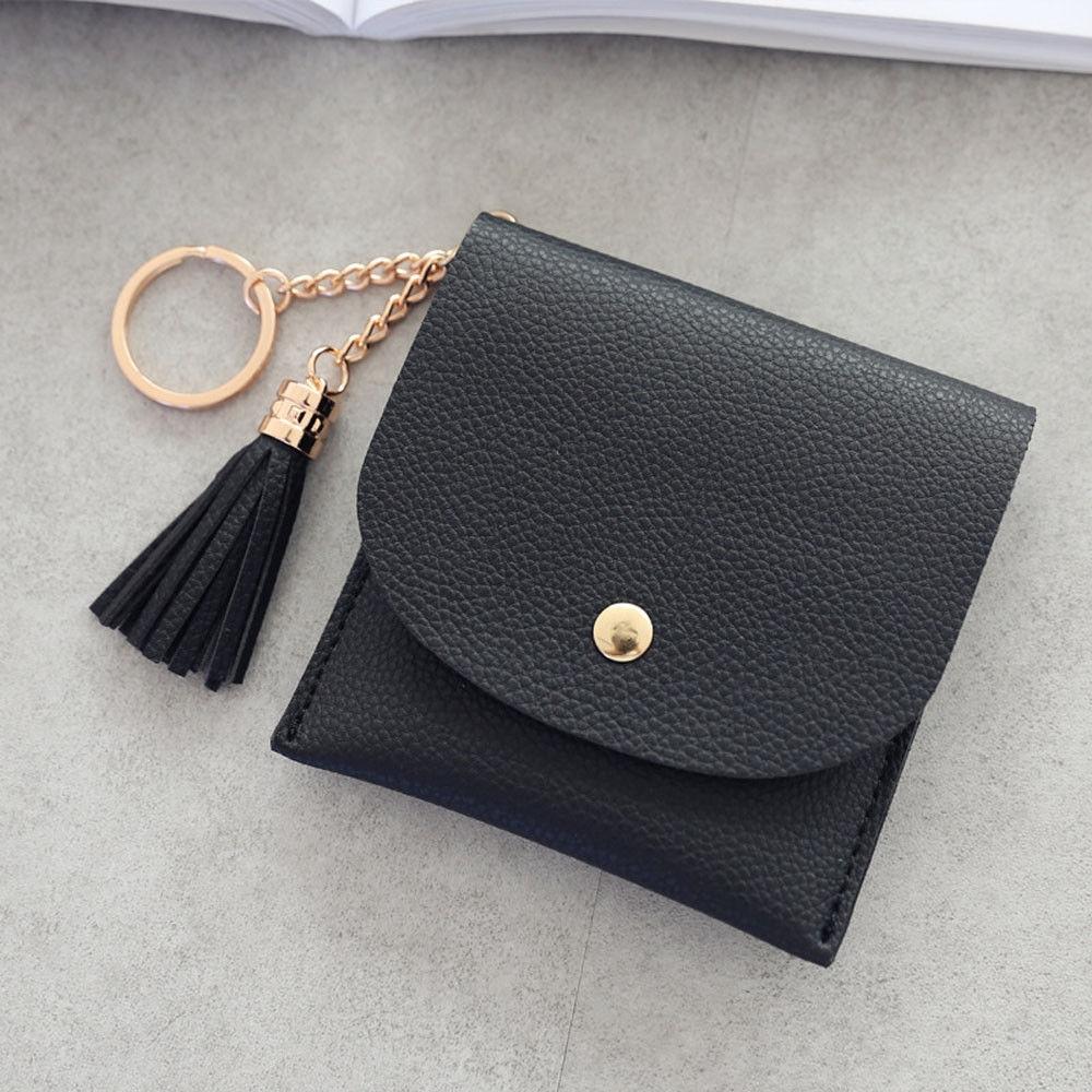 4ecea324edc9 Fashion jiuhap store Women Simple Tassel Short Wallet Coin Purse ...