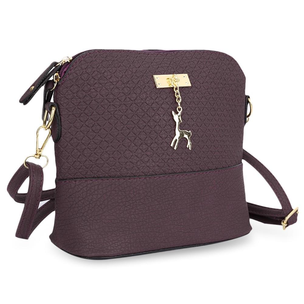 14e430c91e Fashion Ladies Small Deer Pendant Handbag - Purple   Best Price ...
