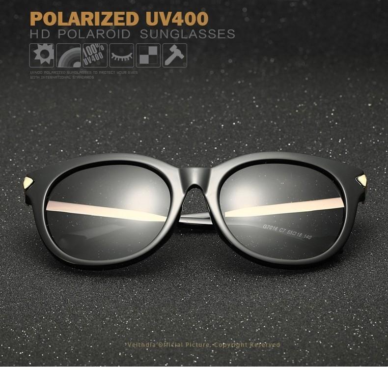 9b3eb5bb85 Generic VEITHDIA Vintage Large Sun Glasses Polarized Cat Eye Ladies ...