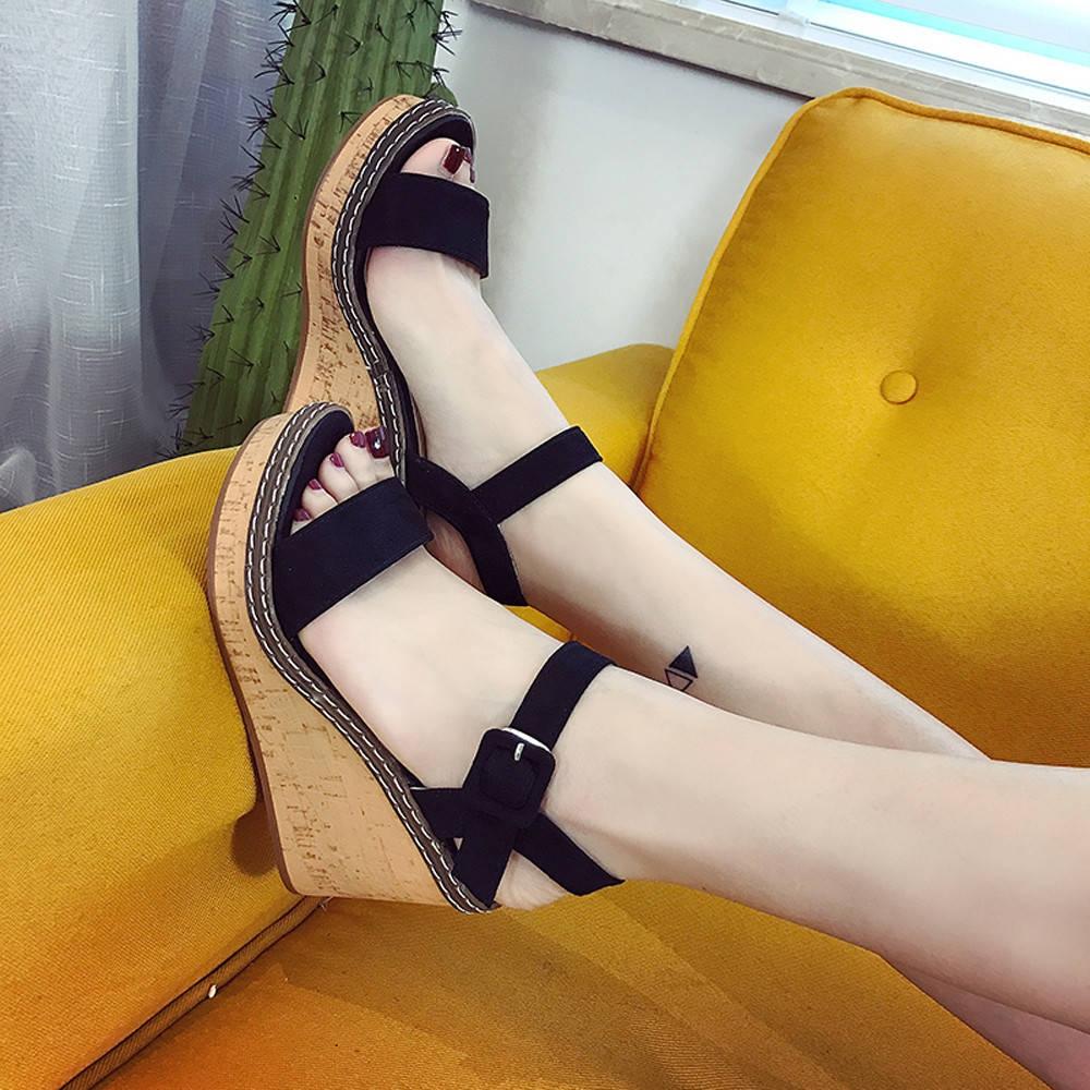 a9d55e246a3 Fashion Jiahsyc Store Women Fish Mouth Platform High Heels Wedge ...