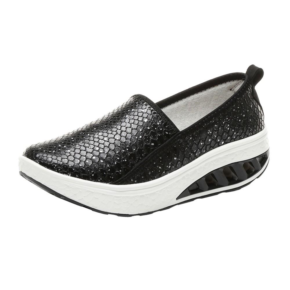454a6dfd8fda Fashion Hiaojbk Store Fashion Women Air Cushion Platform Shoes Shake Shoes  Slip Leisure Sport Sneakers-Black