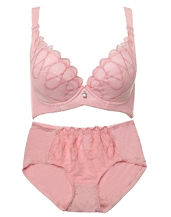 Sexy Mesh-Lace Underwear Color Block Lace Gather Bra Brief The One Plunge Bra