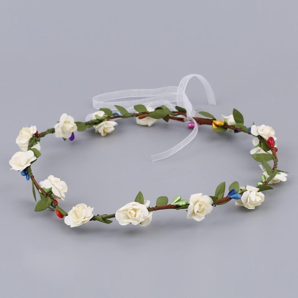fashion bride flower headband wedding photo bridesmaid jewelry