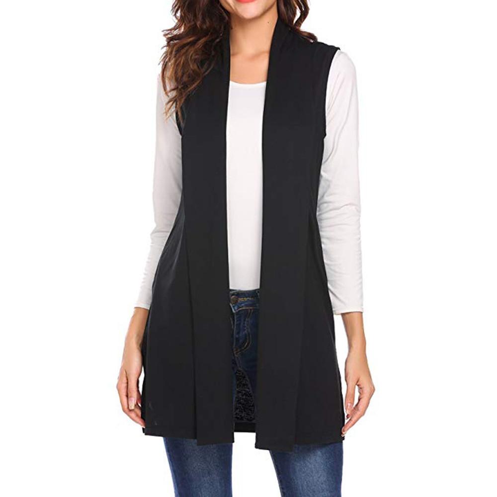 81da59485fc59 Fashion Hiaojbk Store Women Casual Sleeveless Cape Shawl Pocket ...