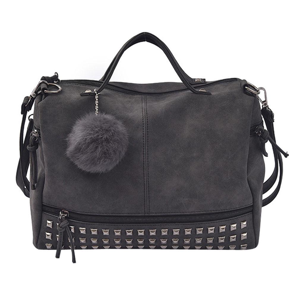 efdd6c83244 Fashion Women Rivet Handbag Large Tote Satchel Shoulder Bag Travel ...
