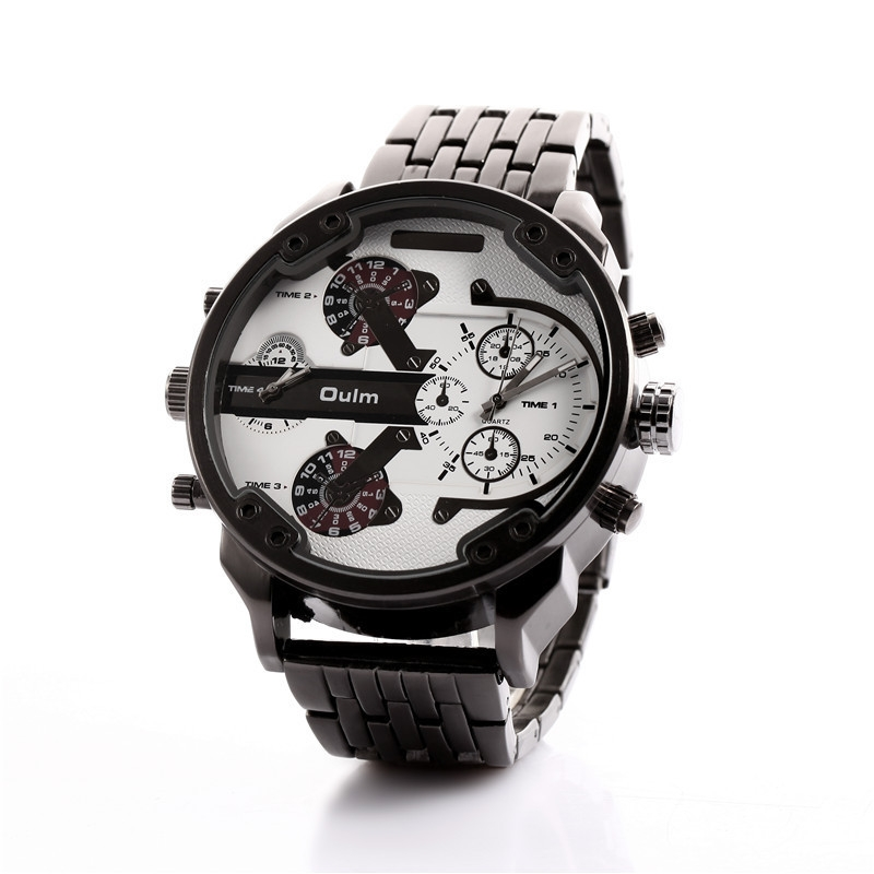 59dfd090fb8 Generic Oulm Luxury Brand DZ Men Alloy Metal Watch 4 Colors Big Size ...