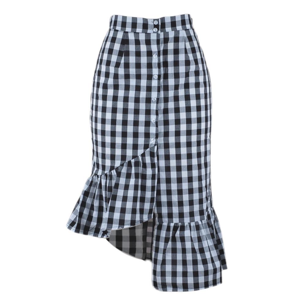 0d4b01f19c Womens Mid Calf Black Skirt | Saddha