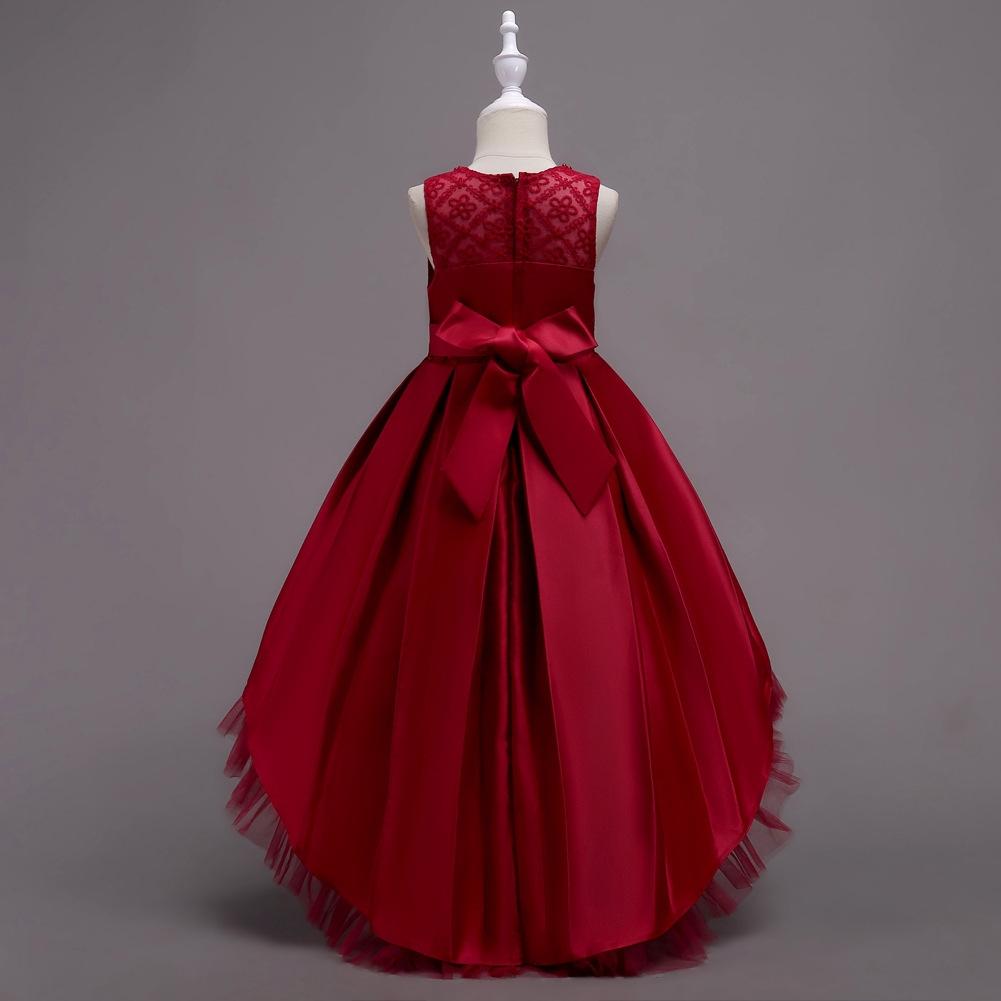 62615426cdffc Fashion Kids Girls Elegant Wedding Floral Dress Princess Party ...