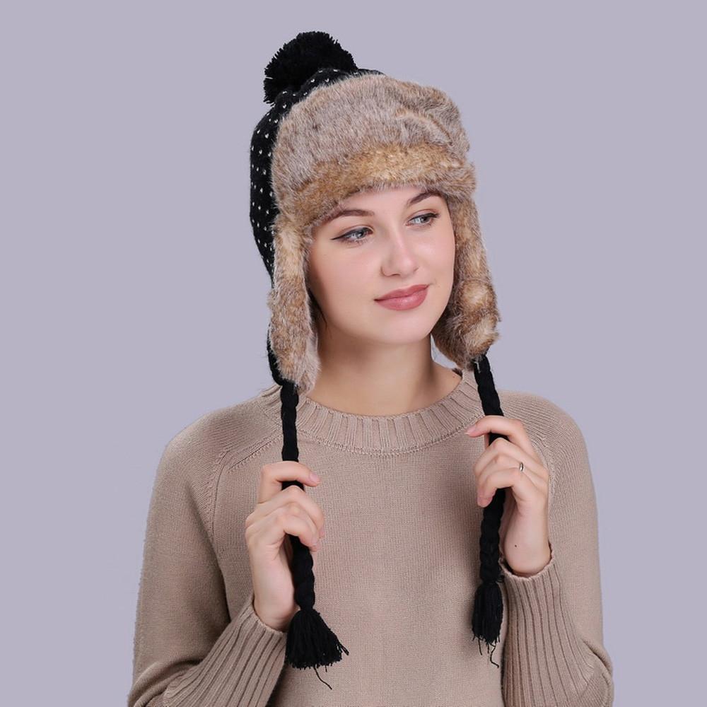 0c9bab80b5e Fashion singedanwarm women winter hat with ear flaps snow ski thick jpg  1000x1000 Snow hats with