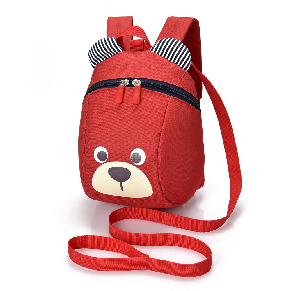 148d68b80 Fashion Animal Bear Anti-lost Baby Backpack Toddler Kids School Bag-Red