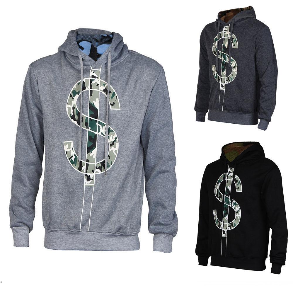 Buy Fashion Jiuhap Store Men Winter Hoodie Warm Hooded Printed